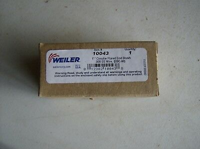 "10043 Weiler 1"" Flared End Brush Circular .008 Stainless Steel Wire"