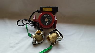 """3 speed Circulating Pump with Cord 34 GPM with (2) 1"""" Flanged Ball Valves"""