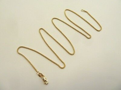 9ct Solid Gold Chain -Spiga Link - Fully Hallmarked