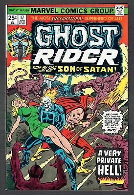 Ghost Rider #17 Son of Satan Appearance Marvel Comics 1976 VF/NM Johnny Blaze