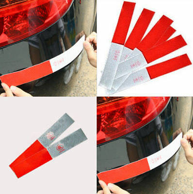 10pcs Car Truck Reflective Tape Decal Vinyl Film Styling Safety Warning Sticker