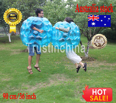 90CM Buddy Bumper Ball Inflatable Body Bubble Soccer Kids Outdoor Toys Blue 1PCS