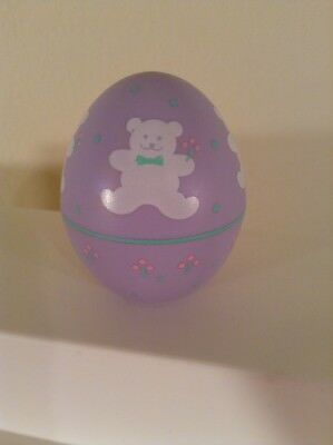Hallmark Merry Miniatures Decorated Easter Egg Container  Teddy Bear