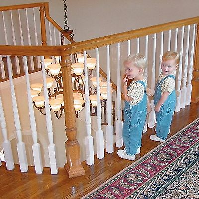 new Kidkusion Kid Safe Banister Guard Clear 15' 4600 Staircase Railing Safety