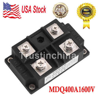 New MDQ 400A Single-Phase Diode Bridge Rectifier 1600V Power US FAST SHIPPING
