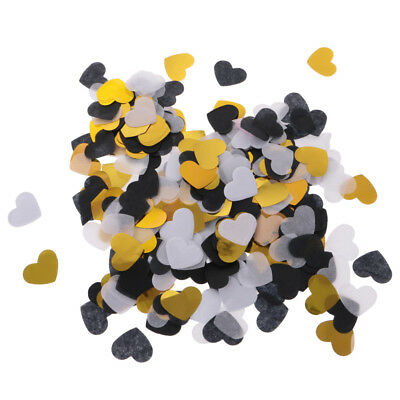 1400Pcs Novelty Paper Confetti Table Gold Heart Throwing Accessories Craft