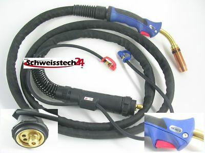 MIG MAG Abicor Binzel Hose Package Welding Torch MB 401-4M Water-Cooled