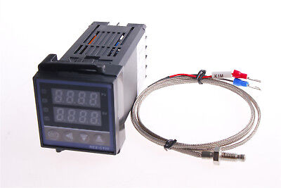 AC100-240V REX-C100 Temperature Controller & K Type 1M Thermocouple High Quality