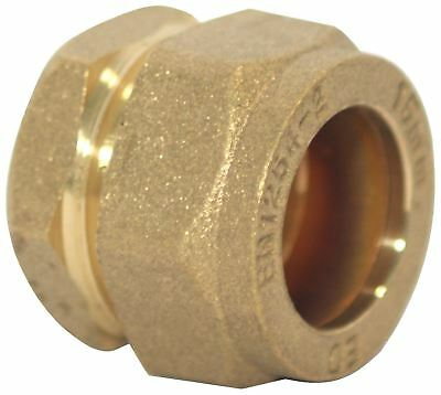 15mm Brass Compression Copper Pipe Blanking Stop Ends Caps Packs of 5