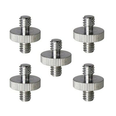 5 Pieces 1/4 inch Male to 1/4 inch Male Threaded Screw Adapter for Camera C G8R2