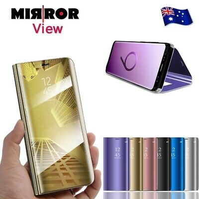 Slim Cover Luxury Mirror Flip Case for Samsung Galaxy S9 S9S+ 8 Plus Note 8 9