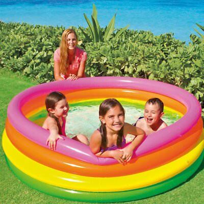 Large Sunset Glow Inflatable Paddle Pool 1.68m x 46cm from Intex Inflatables