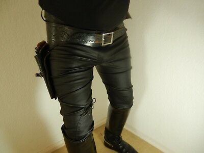 Lederreithose Uniformhose Gay Leder Knlebes. Fetisch Riding Horze Domina Rubber