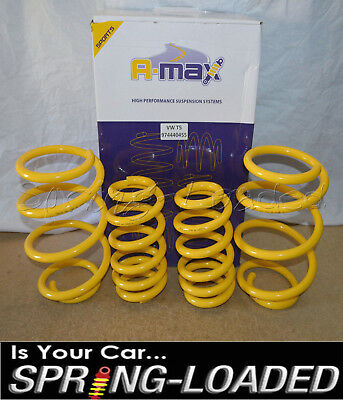 A-MAX Lowering Springs for Volkswagen VW Transporter T5 / T6 2003-On -35mm