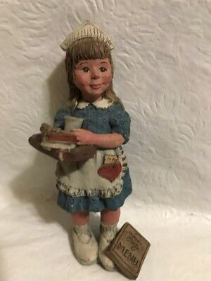 "SARAH'S ATTIC LIMITED EDITION 5"" Figurine ""HAPPY CAFE"" WAITRESS #381/2000"