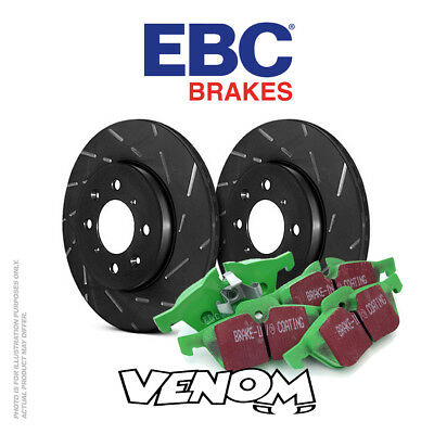 EBC Front Brake Kit Discs & Pads for BMW 520 5 Series 2.2 (E39) 2000-2003