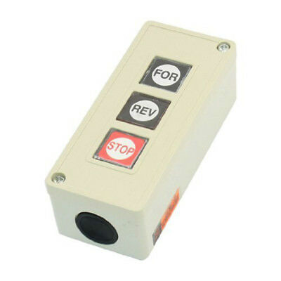Forward Reverse Stop Momentary Push Button Control Switch TPB/3, AC 250V, 3 I8Q3