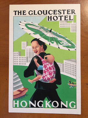 Hotel Luggage Label | The Gloucester Hotel Hong Kong Sweeney | MINT Scarce