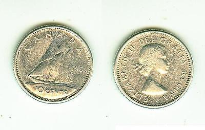 10 Cents 1963  Canada      Silber