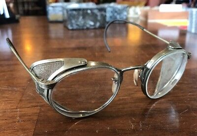 1d37012873 Antique Vintage Safety Glasses   Goggles Spectacles Old Retro   Steampunk  (Rare)