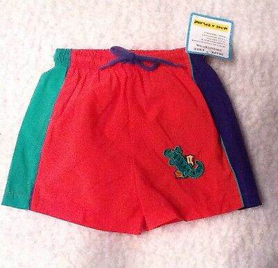 NWT, Make A Splash 12 Months Baby Boy Diaperless Swim Trunk