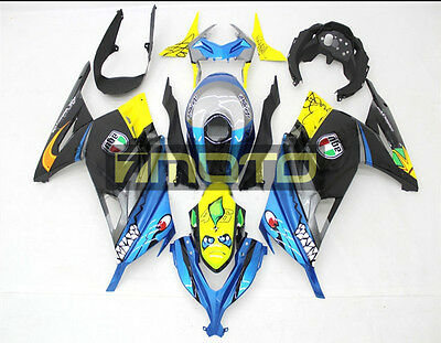 Fairing Kit Bodywork for Kawasaki Ninja 300 EX300 2013 2014 2015 2016 Blue Shark