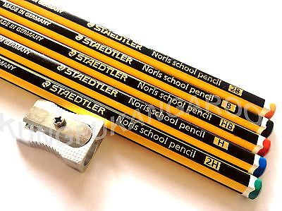 5 x SET STAEDTLER NORIS 2B B HB H 2H LEAD GRADE PENCILS DRAWING ART DESIGN