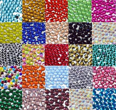 33 COLOURS - 500 Hotfix Iron On Rhinestone Gems Decoration Crafts Clothes BU1277