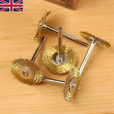 Durable 5Pc Copper Brass Wire Brushes Wheel Set Accessory Polishing Rotary Tool