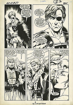 Original Comic Art Advanced Dungeons & Dragons Issue 27 Page 20