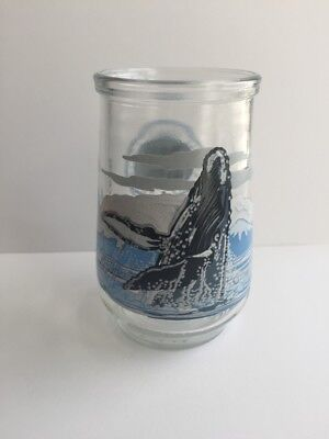 Vintage Welch's Jelly Jar Glass Endangered Species #6 Humpback Whale