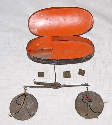 Gold Rush Prospectors Pocket Gold Scale with 3 Assay Weights & Original Case