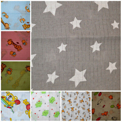 LARGE 70x80cm Muslin Squares 100 Cotton Cloths Baby Nappies