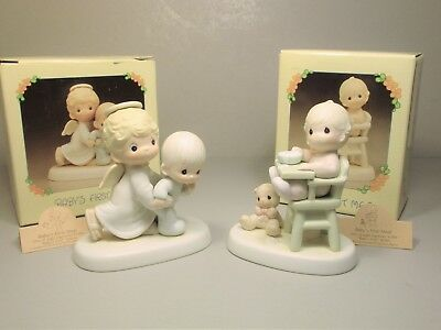 "PRECIOUS MOMENTS ""Baby's First Step"" & ""Baby's First Meal"" E-2840, 524077 set"