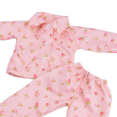 Pajamas PJS Nightgown Clothes for 18in.  Doll #D