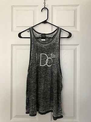 """I Do"" Gray Burn Out ""Bride"" Tank Top"
