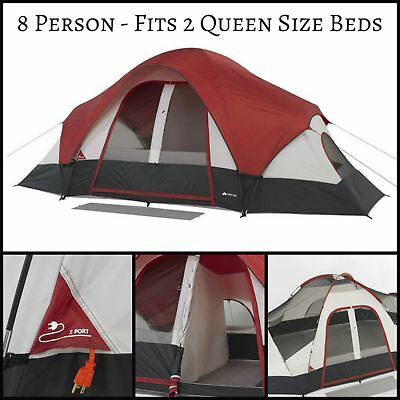 OZARK TRAIL 8 Person Camping Tent 2 Room Outdoor Family Dome Tent