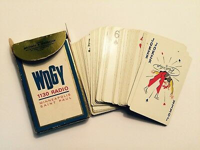 Old WDGY 1130 Radio Rock n' Roll Station Minneapolis St. Paul Deck of Cards
