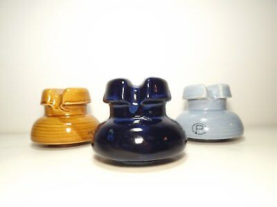 Three awesome Canadian Porcelain  colored insulators