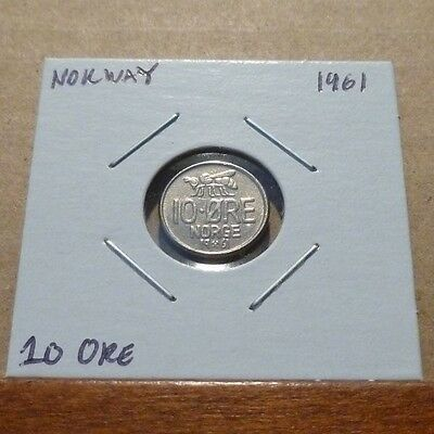 10 ORE COIN - 1961 - Norway