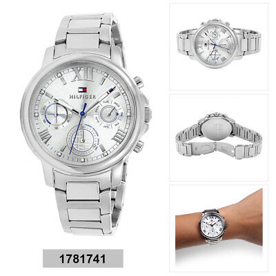 fe495a974812a Tommy Hilfiger Claudia Ladies Analog Business Silver Band 1781741