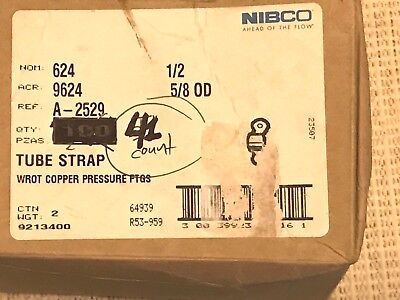 One Box of 41 NIBCO U624 1/2 Tube Strap, 1/2 In Free Shipping!