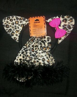 Claire's Toddler Leopard Ears Headband & Leg Covers ~ New
