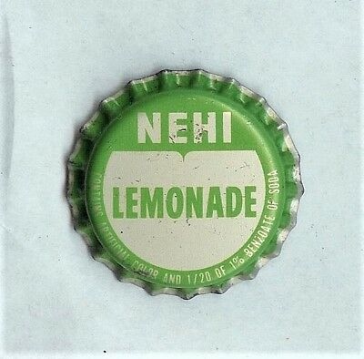 Nehi Lemonade Unused Cork Soda Bottle Cap