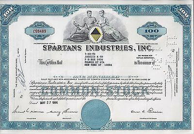 Spartans Industries Inc., Delaware, 1966 (100 Shares) blau