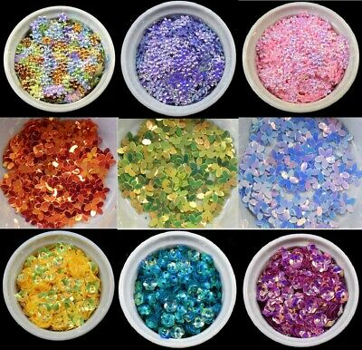 Flower Shape Loose Sequins Flat Sewing Trim Costumes Crafts Card Making BU1276