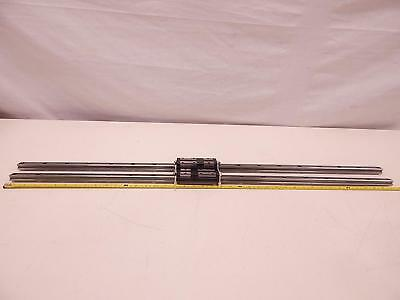 Lot of 4 THK SSR20 Bearings With (2) 41'' CNC Linear Slide Rails