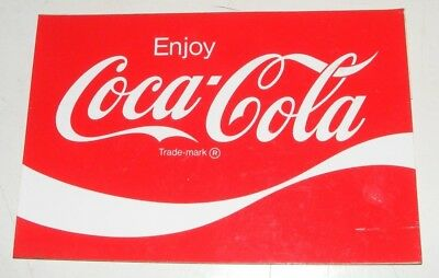 "COCA COLA DECAL SIGN VTG 8"" VINYL STICKER CODE RO41- 8"" X 5 3/8 VTG 1969 -70s"