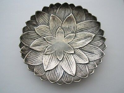 "VINTAGE TIFFANY & CO 2522S STERLING SILVER LOTUS PLATE DISH 6"" 184.3gr NICE !"