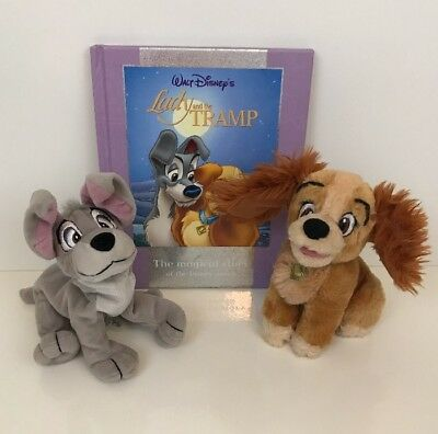 Disney Store Lady And The Tramp Plush Soft Toy & Book Bundle
